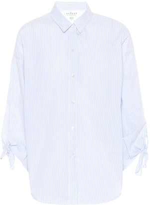 Velvet Iris striped cotton shirt