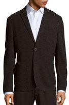 Sand Medallion Pattern Cotton & Virgin Wool Jacket