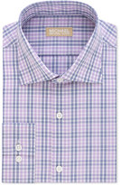 Michael Kors Men's Slim Fit Non-Iron Purple Check Dress Shirt