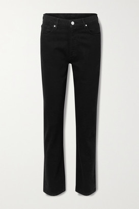Gold Sign + Net Sustain The Benefit High-rise Straight-leg Jeans - Black