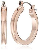 """GUESS Basic"""" Gold Wide Band Mini Hoop Earrings"""