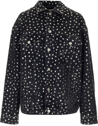 Balenciaga Star Studded Denim Jacket