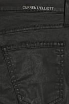 Current/Elliott The Stiletto Biker coated mid-rise skinny jeans