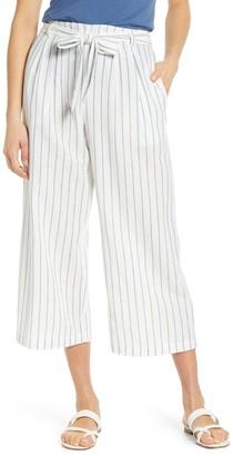 Caslon Waist Tie Linen Blend Wide Leg Pants