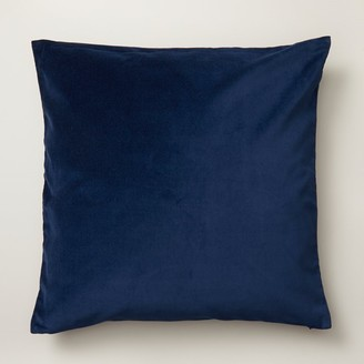 "Oui Velvet Pillow Cover Indigo Blue 20"" X 20"""