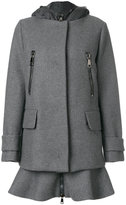 Moncler double layered coat - women - Feather Down/Polyamide/Virgin Wool/Polyimide - 2