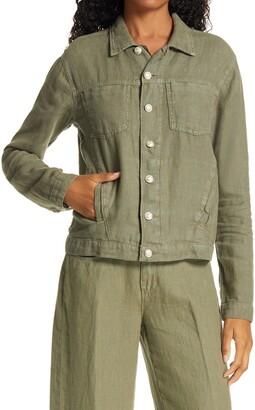 L'Agence Celine Slim Linen Jacket