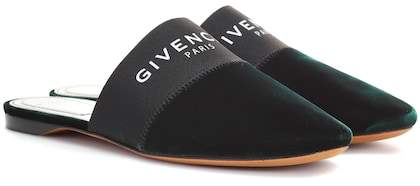 Givenchy Bedford velvet slippers