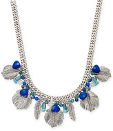 Vera Bradley Silver-Tone Beaded Feather Collar Necklace