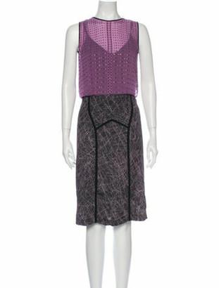 Bottega Veneta Silk Midi Length Dress Purple
