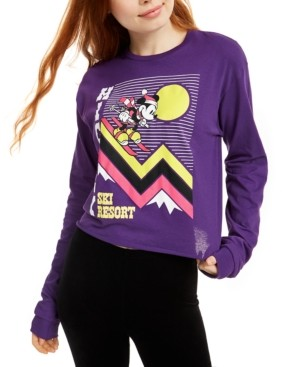 Mad Engine Disney Juniors' Mickey Mouse Ski Graphic T-Shirt
