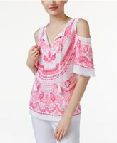 INC International Concepts Cold-Shoulder Peasant Top, Only at Macy's