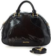 Miu Miu Pre-Owned Black Leather And Patent Leather Convertible Bag