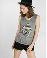 Express one eleven third eye graphic muscle tank