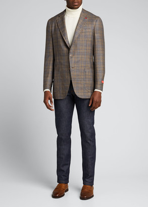 Isaia Men's Plaid Sport Jacket