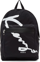 Kenzo Black Signature Logo Backpack