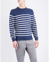Tommy Hilfiger Striped knitted cotton jumper