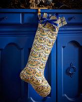 Kim Seybert Peacock Fringe Christmas Stocking