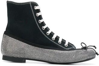 Marco De Vincenzo rhinestone embellished ballerina sneakers