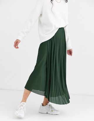 ASOS DESIGN cut about wrap pleated city maxi skirt