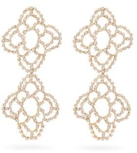 Rosantica Spiga Crystal-flower Drop Earrings - Womens - Crystal