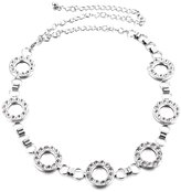 Sitong women's fashion circle rhinestone metal waist chain