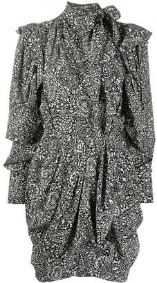 Isabel Marant Bruna draped paisley-print mini dress