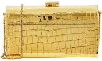 Discotheque 22kt gold-dipped clutch