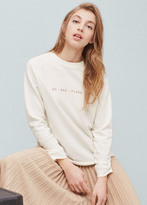 Mango Outlet Mixed Cotton Sweatshirt