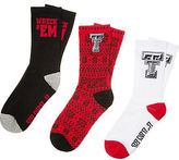 PINK Texas Tech University 3-Pack Crew Socks