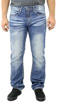 Buffalo David Bitton Men's Driven Stright Leg Jean In Sanded Damaged and Repaired