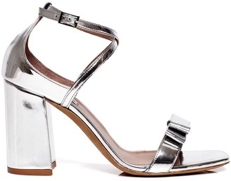 Tabitha Simmons Hudson metallic block heel sandals