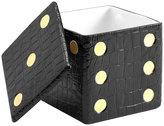 L'OBJET Dice Decorative Box - Black Croc