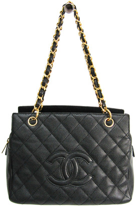 Chanel Black Quilted Caviar Leather Petit Timeless Tote