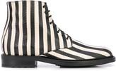 Saint Laurent striped ankle boots