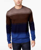 Club Room Men's Colorblocked Merino Performance Sweater, Created for Macy's