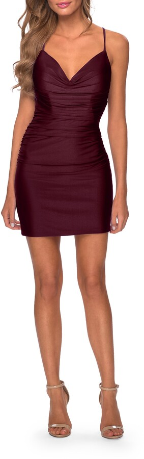 Thumbnail for your product : La Femme Ruched Sheath Minidress