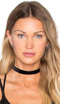 Vanessa Mooney Velvet Choker in Black.