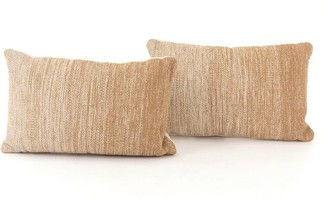 Pottery Barn Flaxen Ombre Lumbar Pillow - Set Of 2