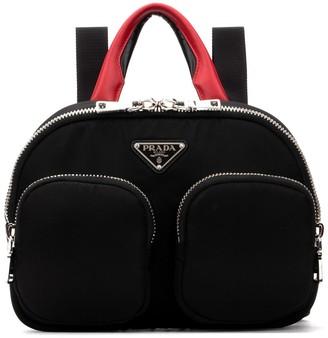 Prada Zipped Logo Plaque Backpack