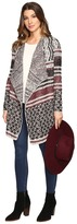 Lucky Brand Mixed Striped Cardigan