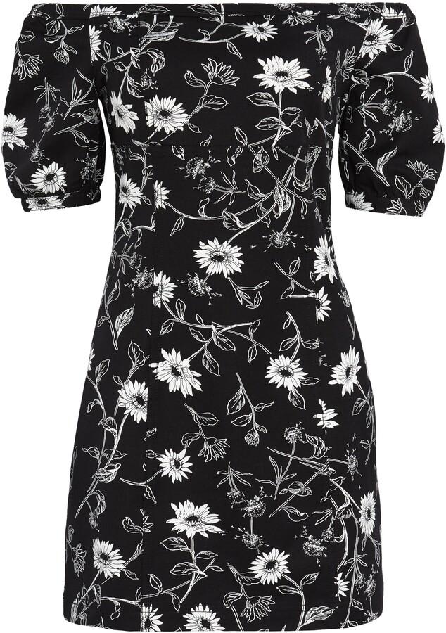 Leith Floral Off the Shoulder Minidress