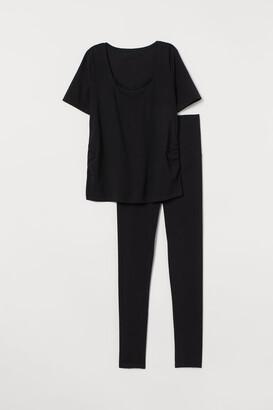 H&M MAMA Nursing Pajamas - Black