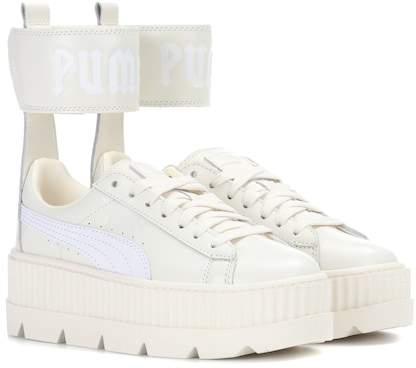 Rihanna Fenty by Leather ankle-strap sneakers