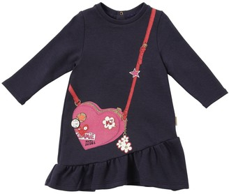 Little Marc Jacobs Printed Cotton Blend Sweatshirt Dress