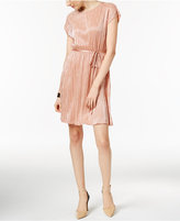 NY Collection Petite Metallic Fit & Flare Dress