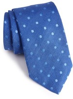 David Donahue Men's Dot Linen & Silk Tie