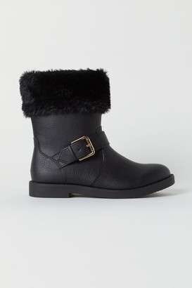 H&M Faux Shearling-lined Boots