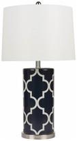 Abbyson Living Madison Lattice Table Lamp, Navy Blue