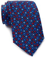 Tailorbyrd Silk Dog Paw Print Tie